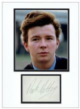 Rick Astley Autograph Signed Display